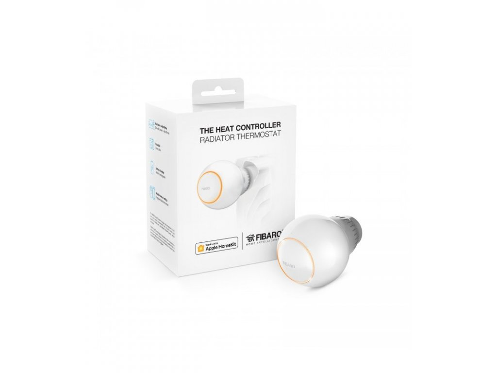 FiBARO termostatická hlavice HomeKit - FIBARO The Heat Controller HomeKit (FGBHT-001)