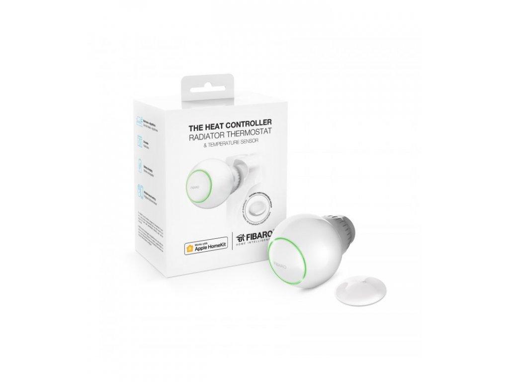 HomeKit termostatická hlavice s teplotním senzorem - FIBARO The Heat Controller Starter Pack HomeKit
