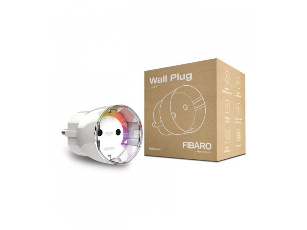 Chytrá zásuvka - FIBARO Wall Plug type F (FGWPF-102 ZW5)