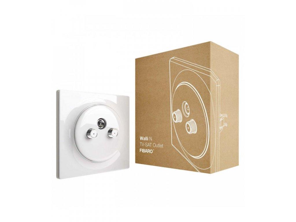 Koaxiální zásuvka bez inteligence - FIBARO Walli N TV-SAT Outlet (FGWTFEU-021)