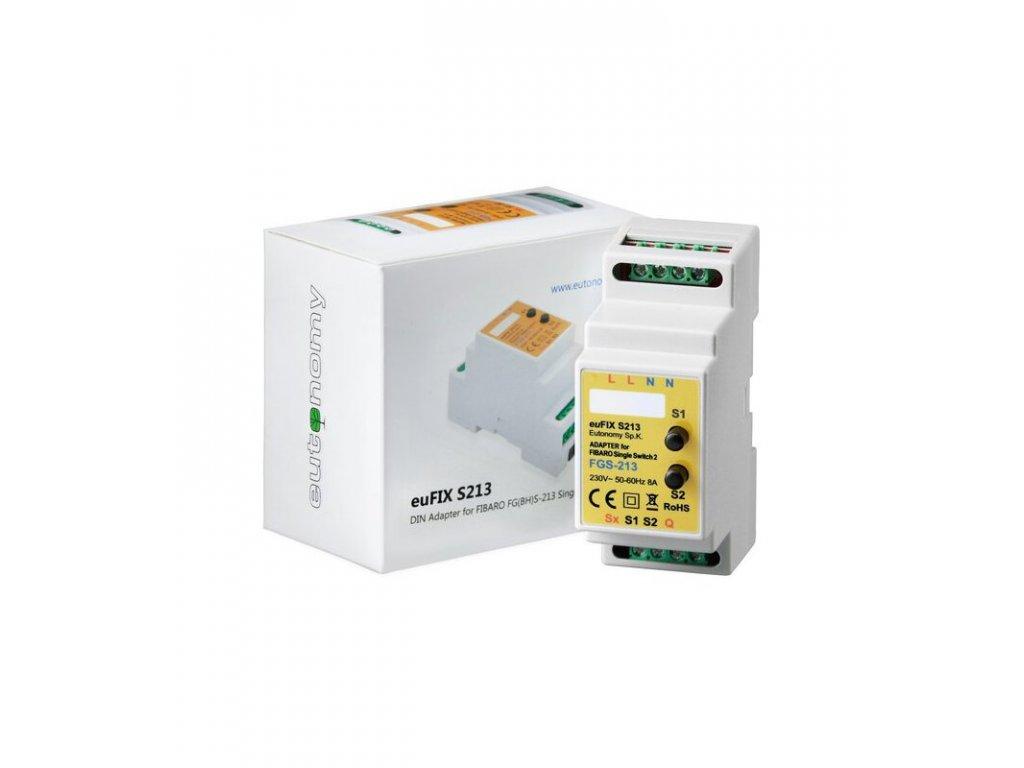 Eutonomy euFIX S213 DIN adaptér (s tlačítkem)