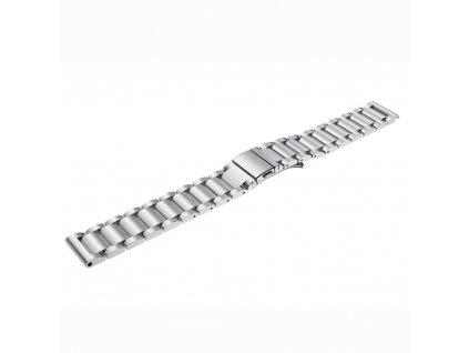 Výměnný pásek  pro Gear S3 ocelový tříčlenný, Stříbrná