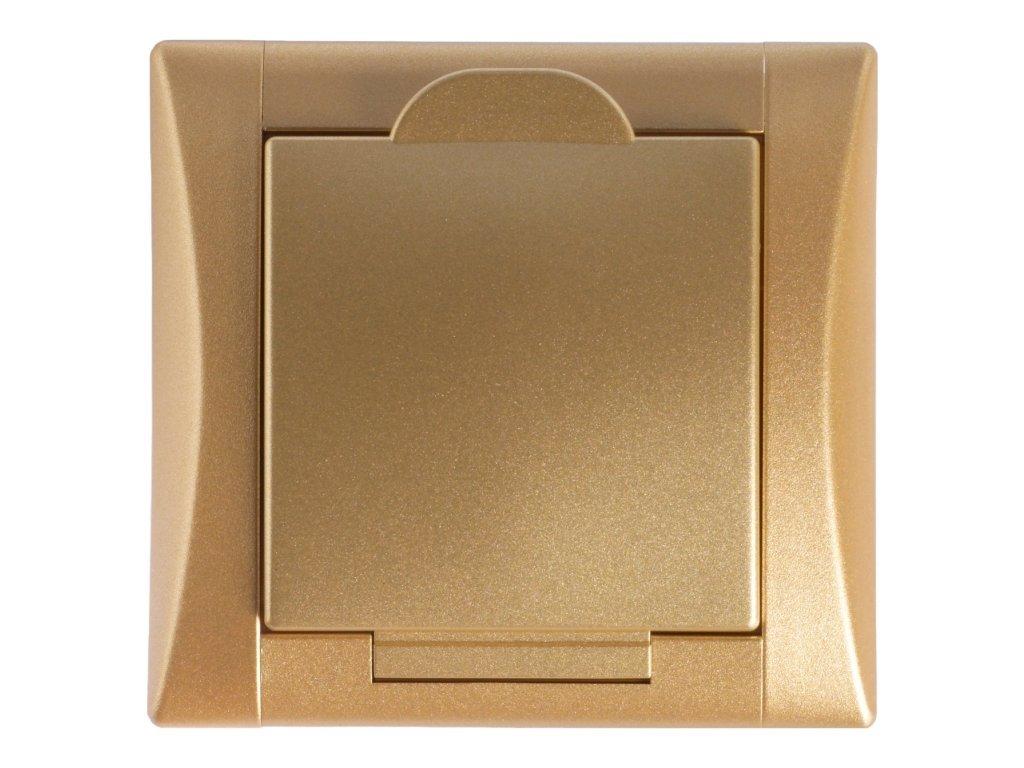 zasuvka elegant zlata zlata celofarebna