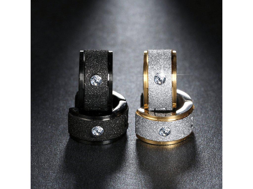 Náušnice z chirugické oceli ve 2 barevných provedeních SE000059 (Barva Stříbrno- zlatá)