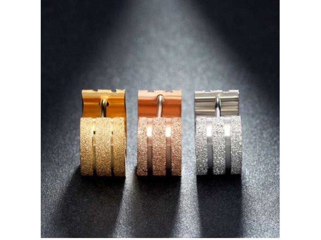 Náušnice z pískované chirurgické oceli SE41- 3 barvy