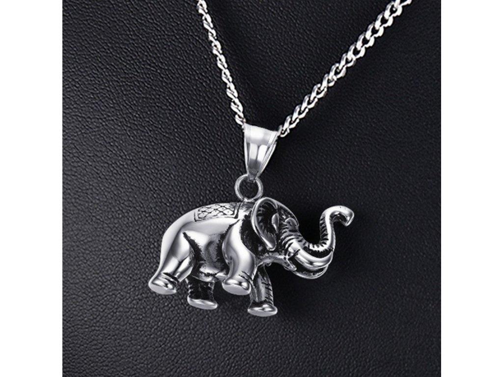 492009 slon pro stesti nahrdelnik z chirurgicke oceli pn0000144