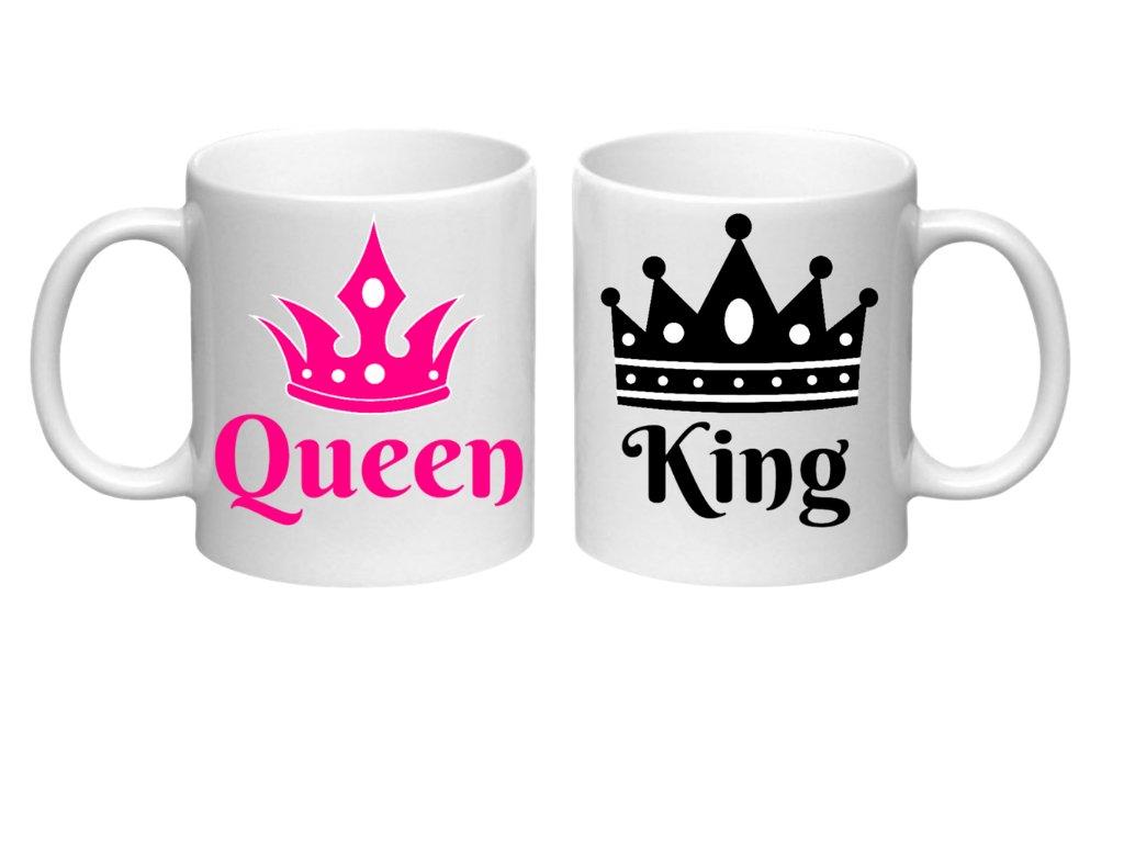 Sada hrnečků pro páry King and Queen