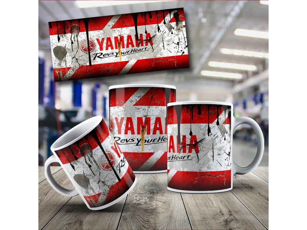 Hrneček s motivem Yamaha