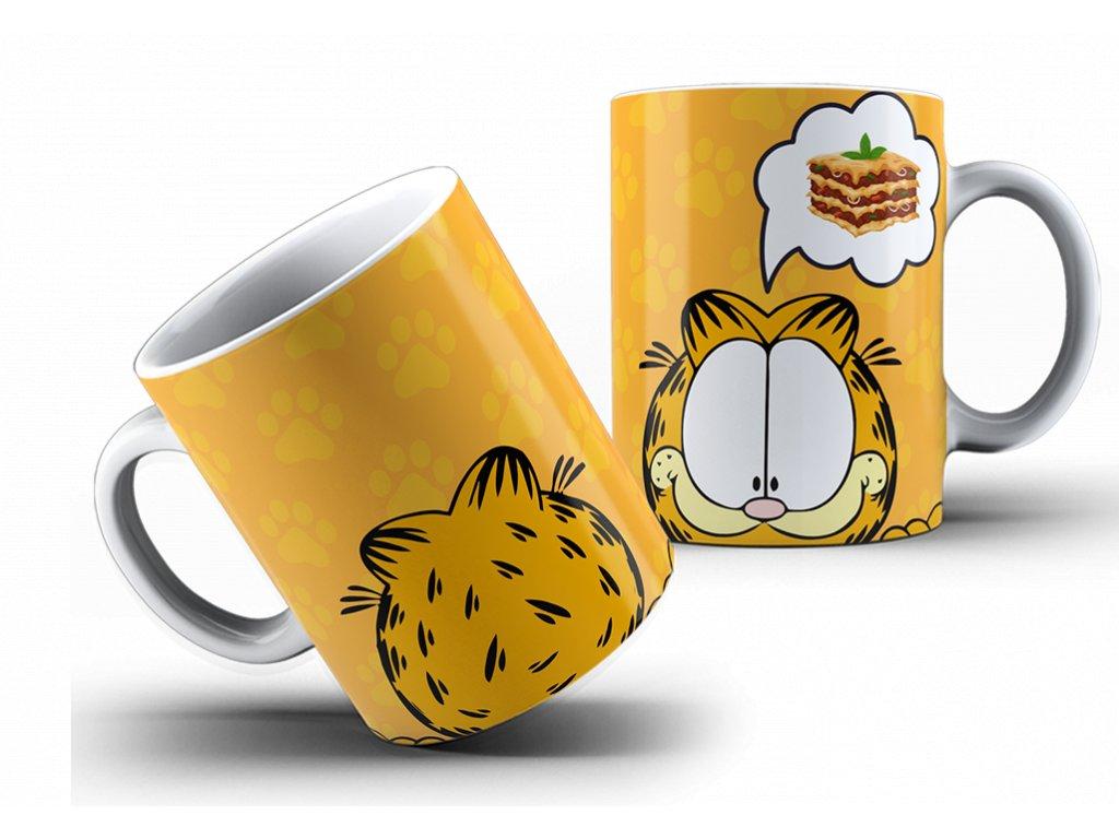 Hrneček s motivem-  Garfield 3