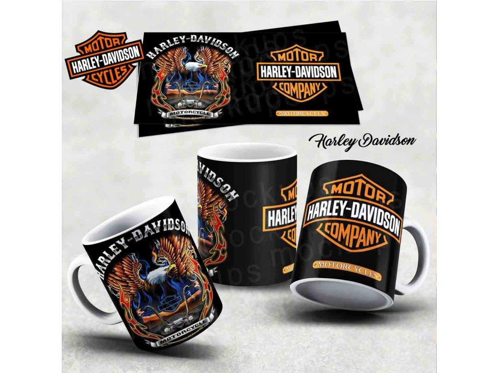 Hrneček s motivem-  Harley Davidson 5