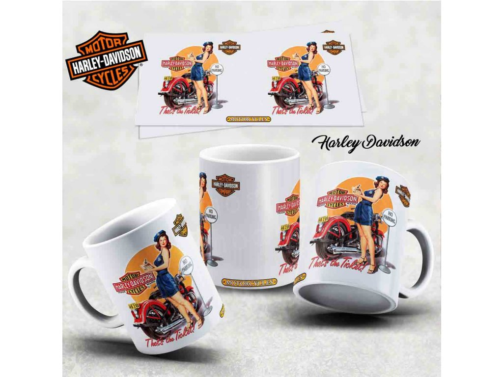Hrneček s motivem-  Harley Davidson 9