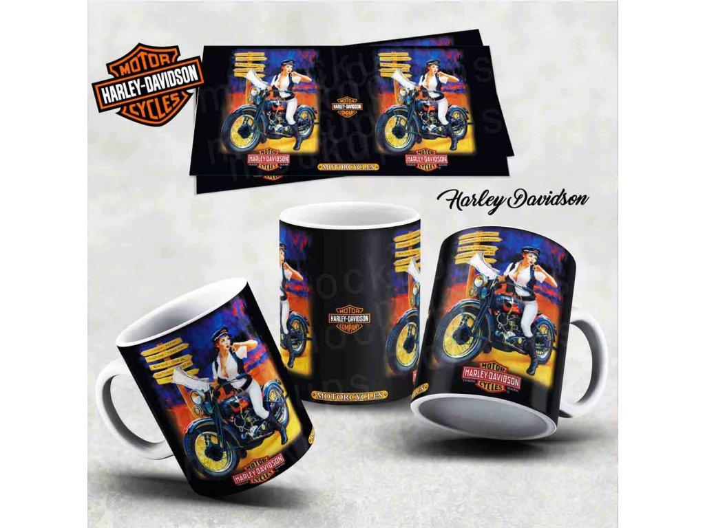 Hrneček s motivem-  Harley Davidson 12