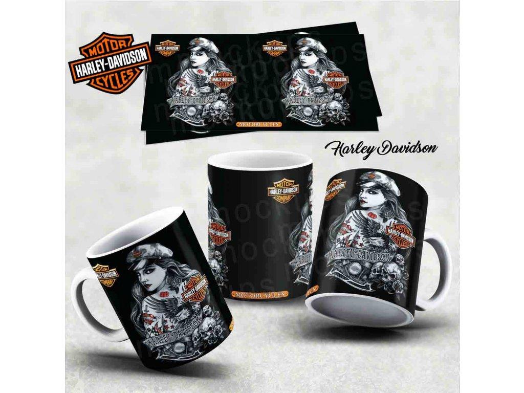 Hrneček s motivem-  Harley Davidson 16