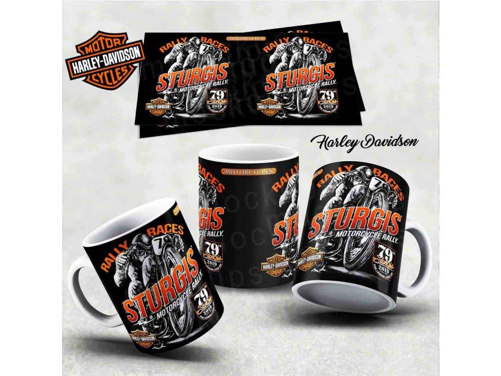 Hrneček s motivem-  Harley Davidson 17