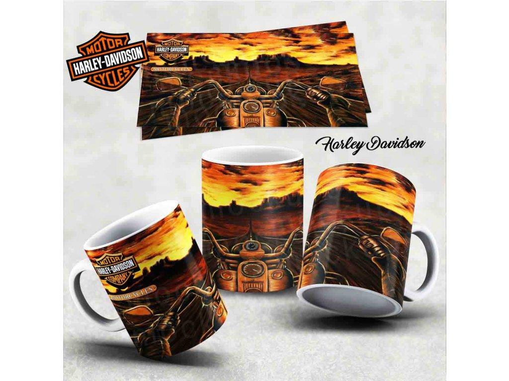 Hrneček s motivem-  Harley Davidson 18