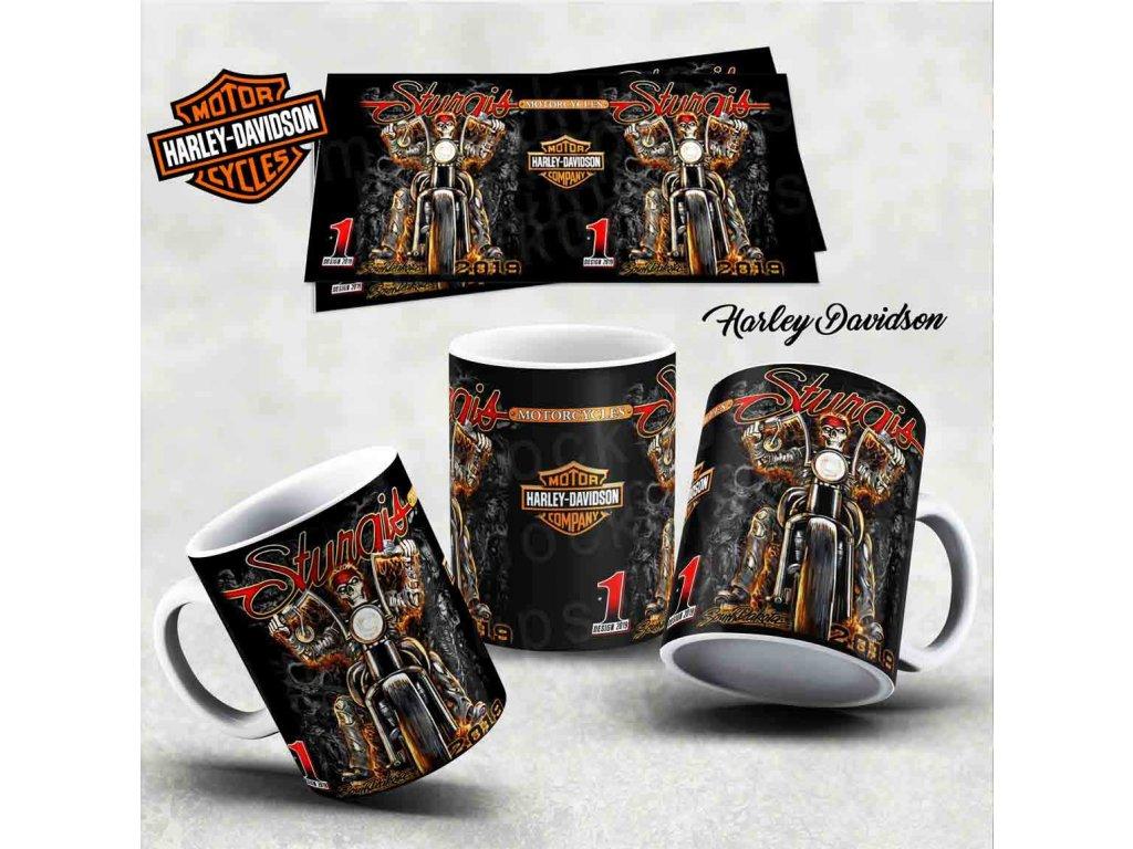 Hrneček s motivem-  Harley Davidson 19