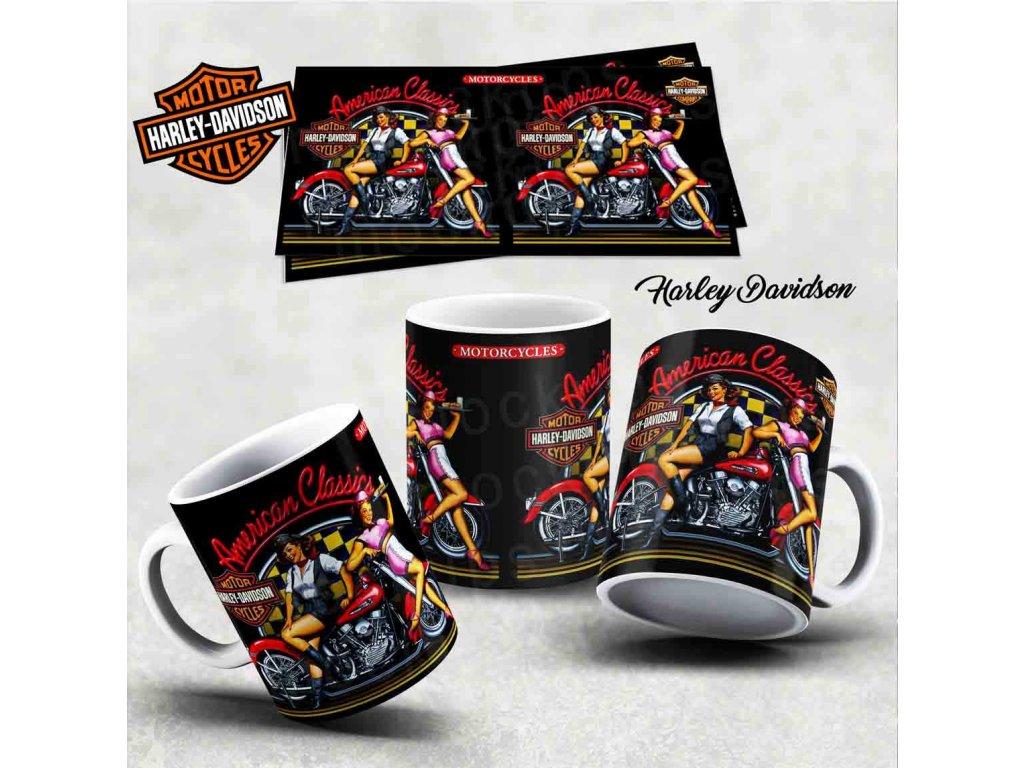 Hrneček s motivem-  Harley Davidson 20
