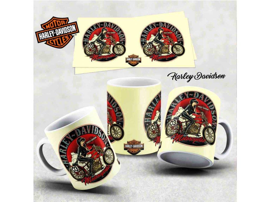 Hrneček s motivem-  Harley Davidson 21