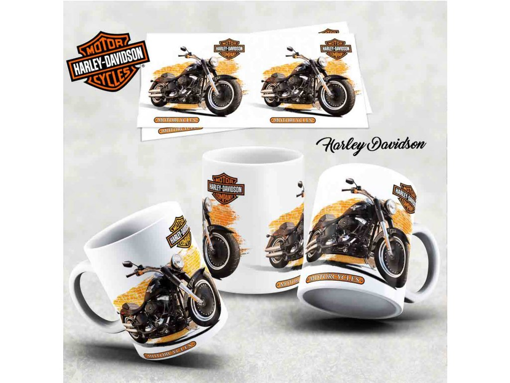 Hrneček s motivem-  Harley Davidson 23