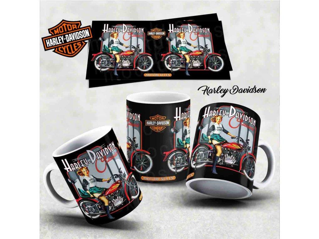 Hrneček s motivem-  Harley Davidson 25