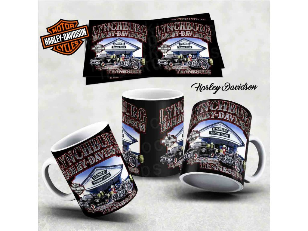Hrneček s motivem-  Harley Davidson 36