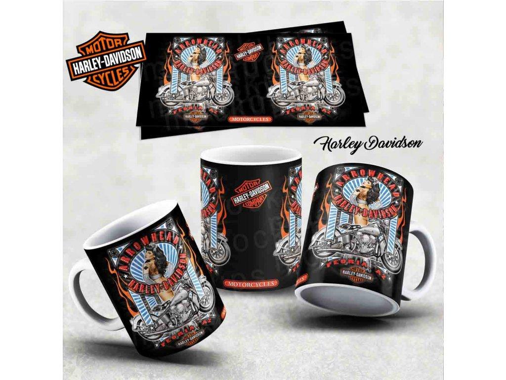 Hrneček s motivem-  Harley Davidson 37