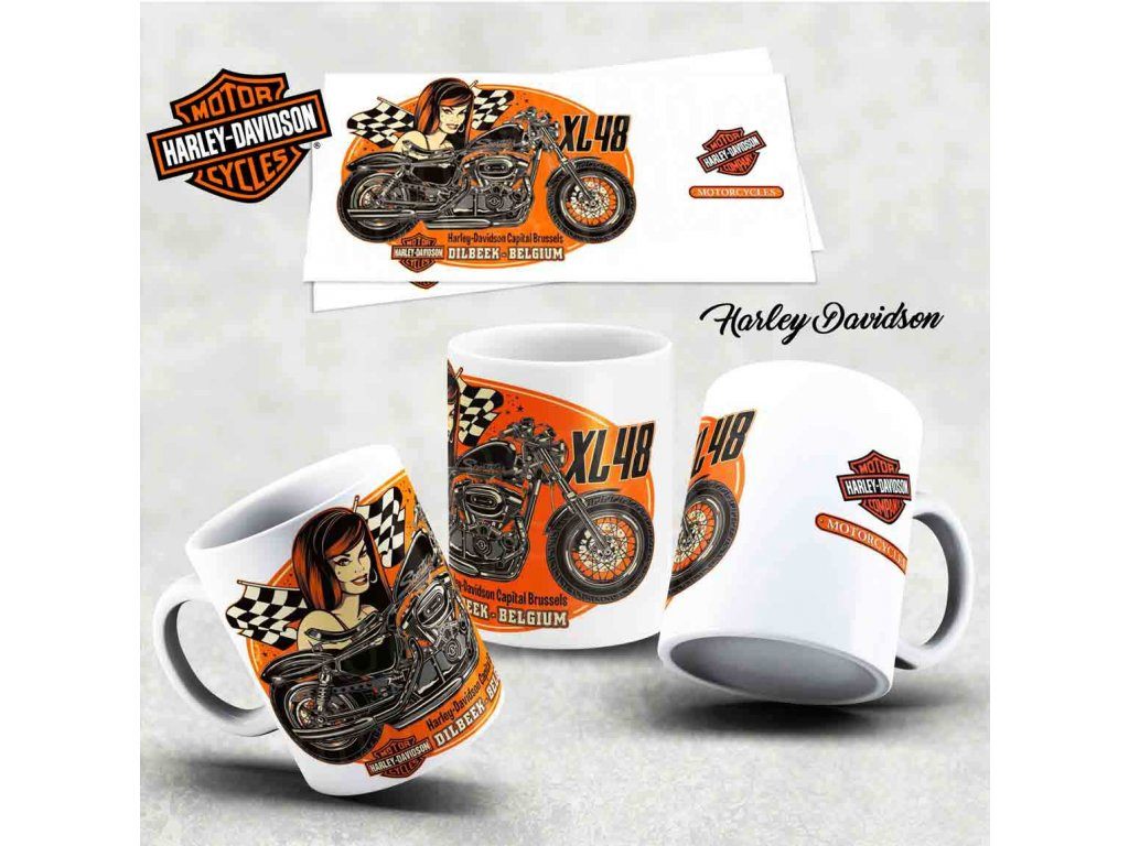 Hrneček s motivem-  Harley Davidson 38