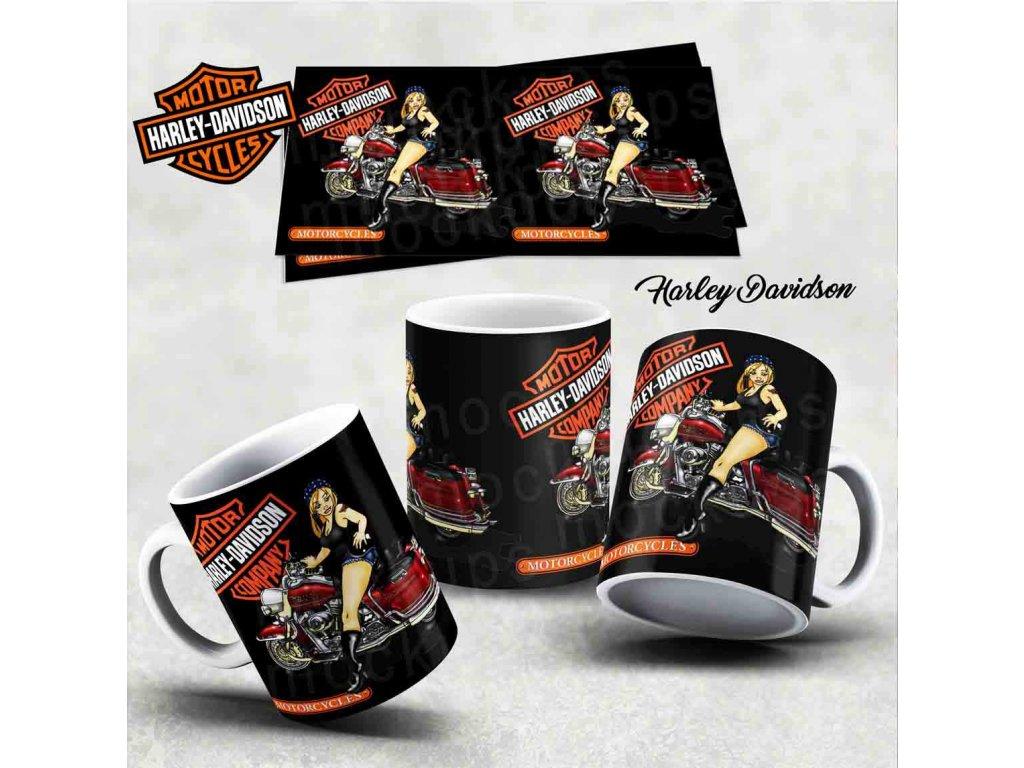 Hrneček s motivem-  Harley Davidson 39