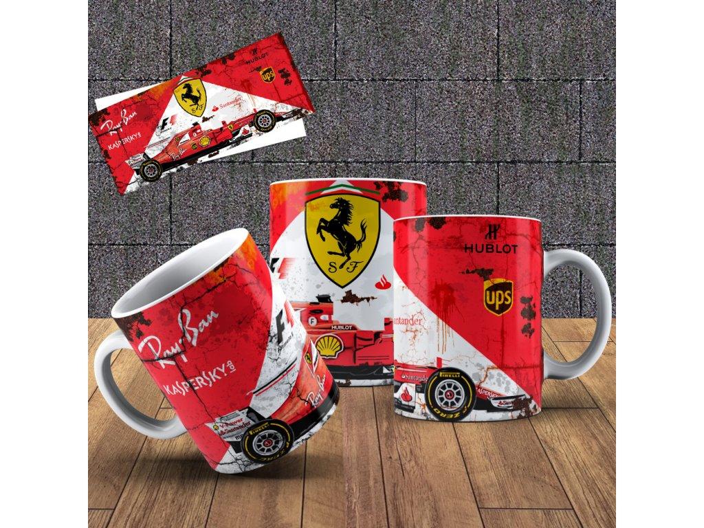 Hrneček s motivem Formule- Ferrari