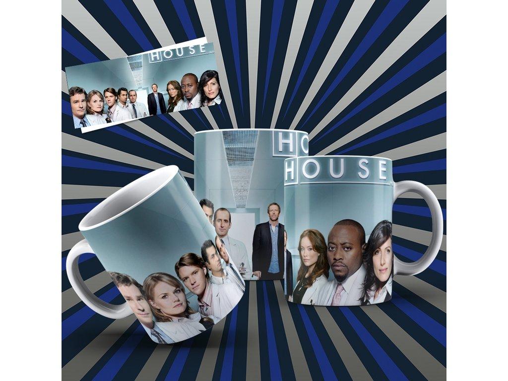 Hrneček s motivem ze seriálu  Dr. House 5