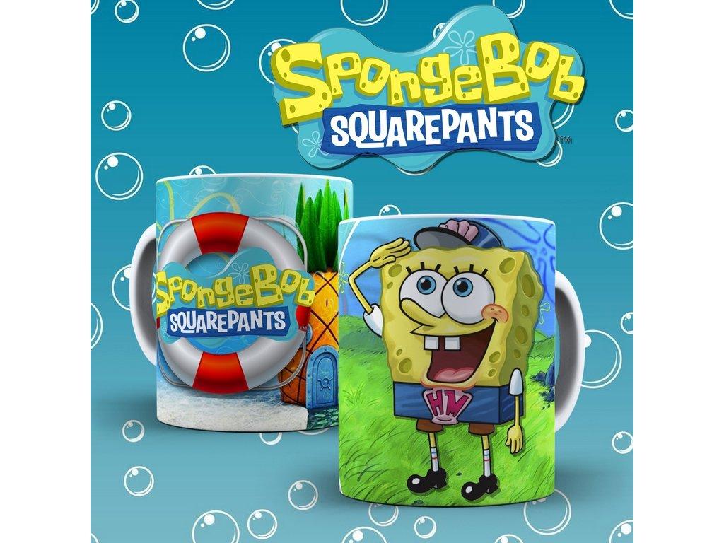 Hrneček s motivem ze seriálu  SpongeBob 1