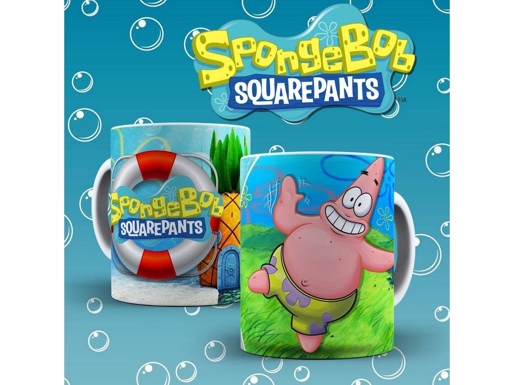 Hrneček s motivem ze seriálu  SpongeBob 5