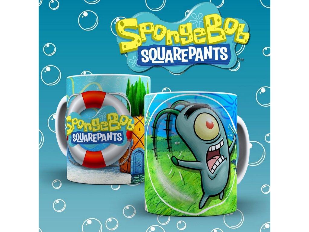 Hrneček s motivem ze seriálu  SpongeBob 7