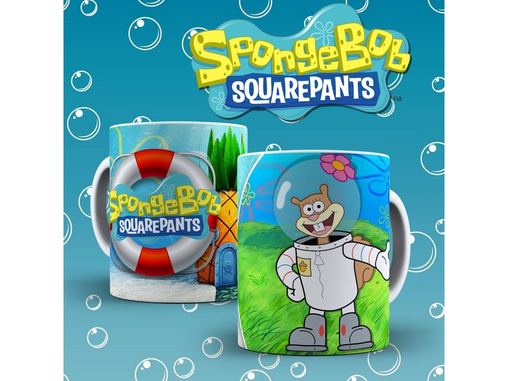 Hrneček s motivem ze seriálu  SpongeBob 8