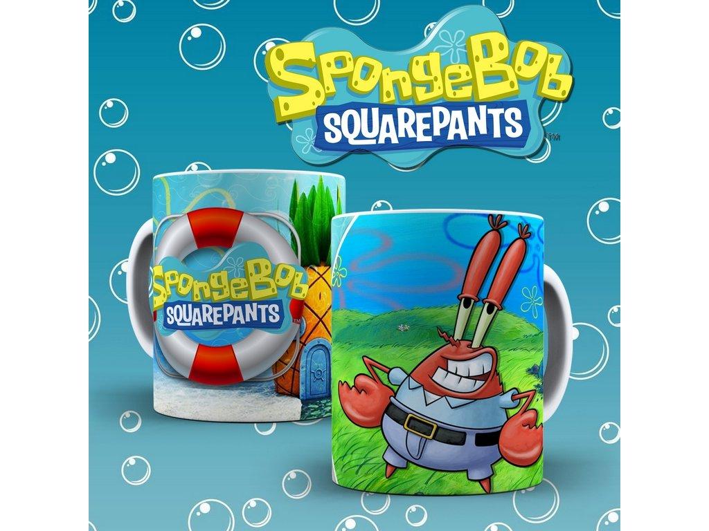 Hrneček s motivem ze seriálu  SpongeBob 9