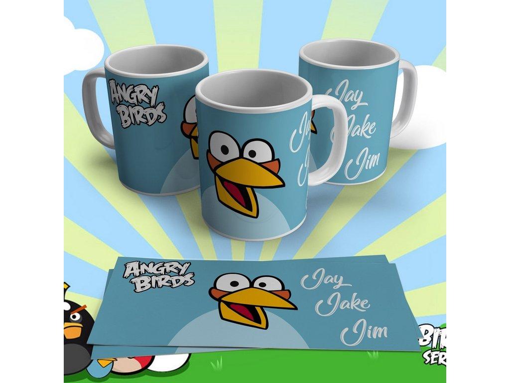 Hrneček s motivem ze seriálu  Angry Birds 4