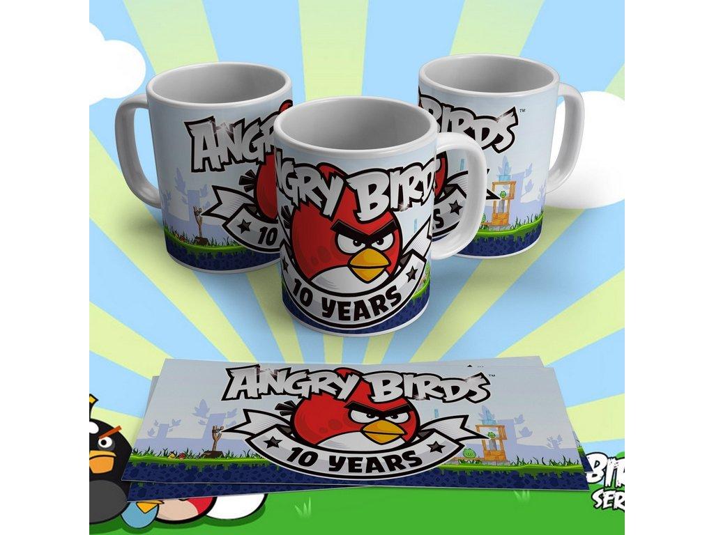 Hrneček s motivem ze seriálu  Angry Birds 7