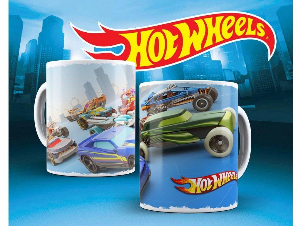 Hrneček s motivem ze seriálu  Hot wheels 7