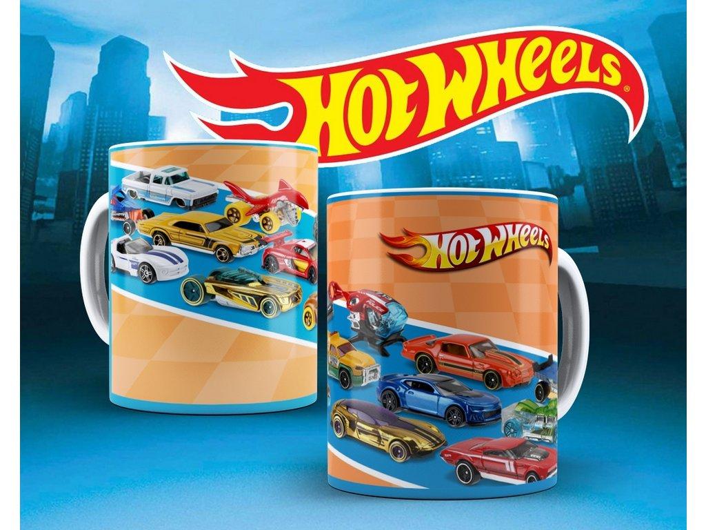 Hrneček s motivem ze seriálu  Hot wheels 13