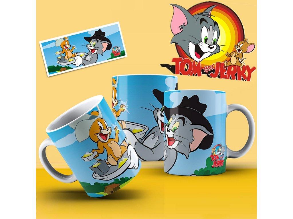 Hrneček s motivem ze seriálu  Tom a Jerry 2