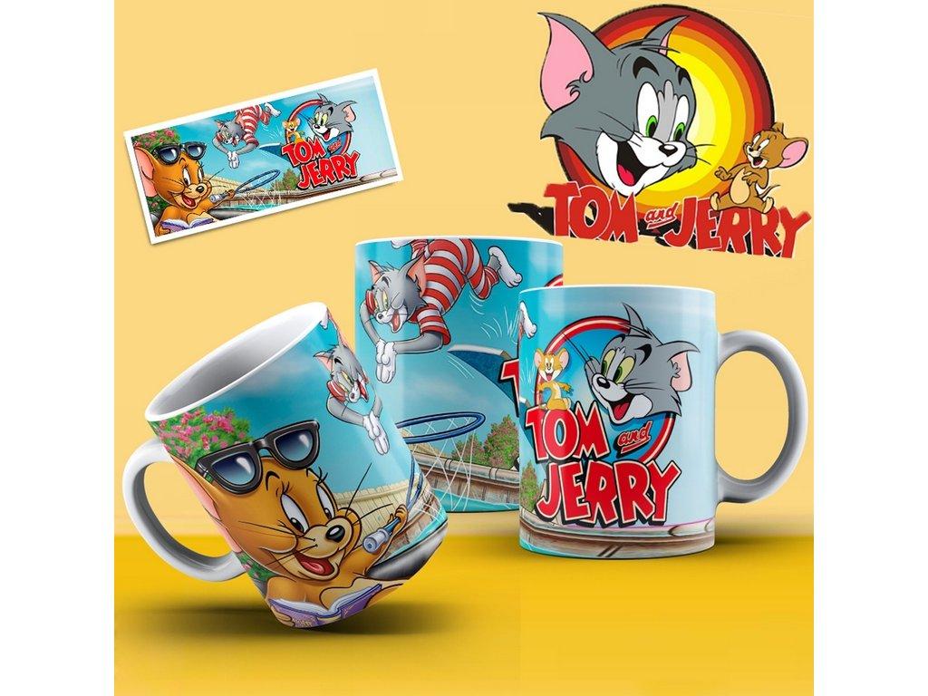 Hrneček s motivem ze seriálu  Tom a Jerry 6