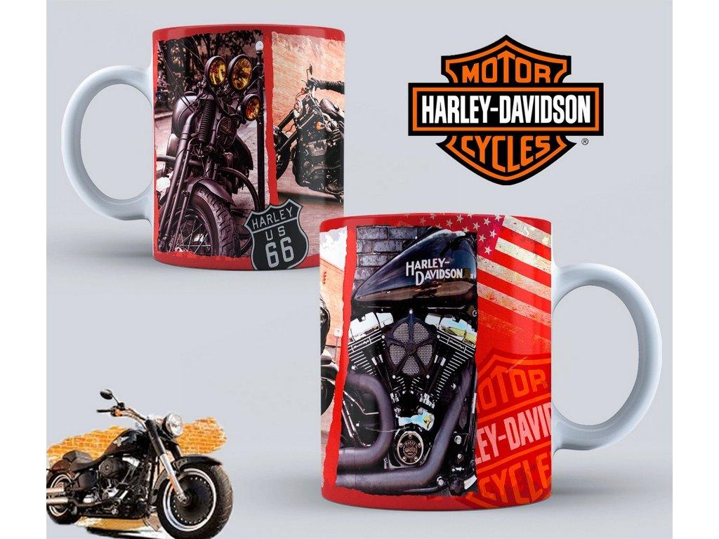 Hrneček s motivem-  Harley Davidson 42