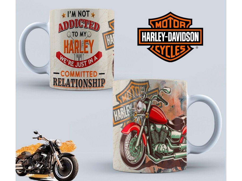 Hrneček s motivem-  Harley Davidson 44