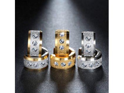 Náušnice z chirugické oceli ve 3 barevných provedeních SE000044 (Barva Zlatá)
