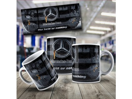 Hrneček s motivem Mercedes