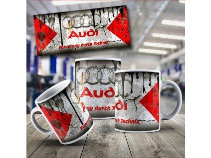 Hrneček s motivem Audi