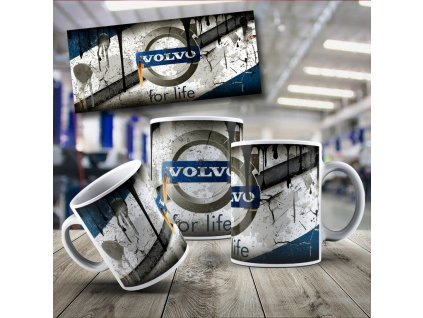 Hrneček s motivem Volvo