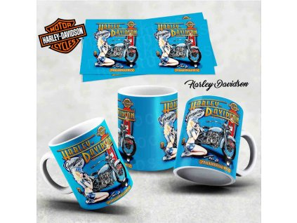 Hrneček s motivem-  Harley Davidson 1