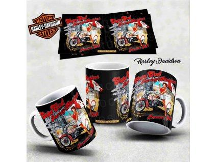 Hrneček s motivem-  Harley Davidson 3