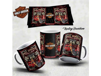 Hrneček s motivem-  Harley Davidson 4